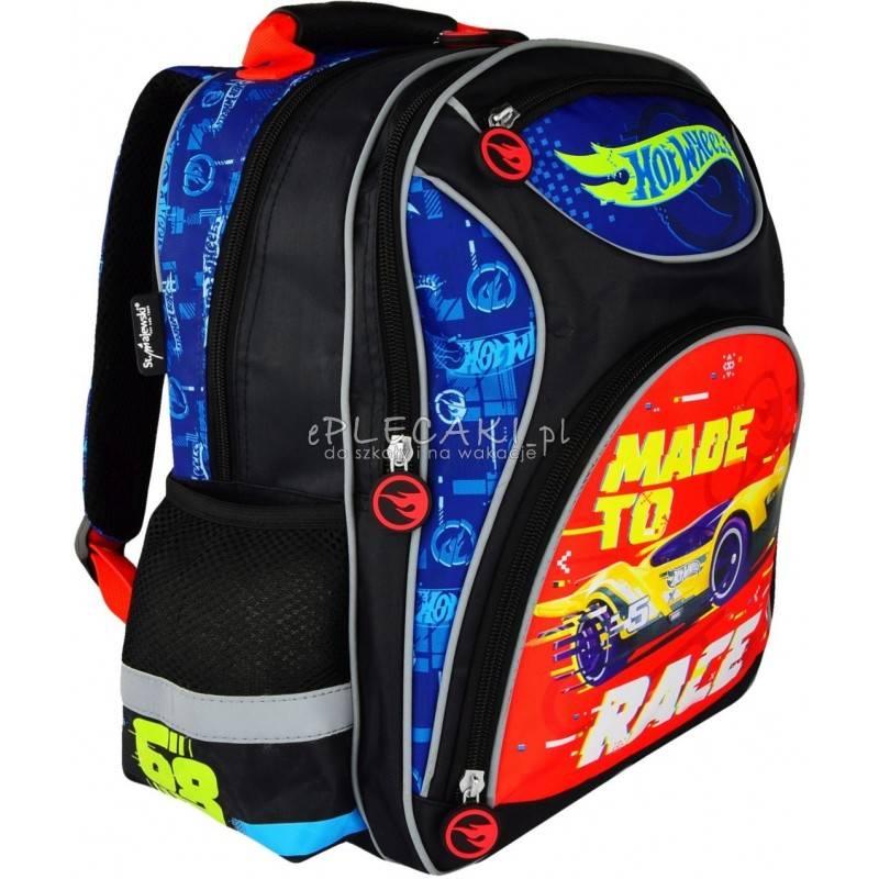 798efbe96a31d Plecak szkolny Hot Wheels 4 przegrody dla chłopca