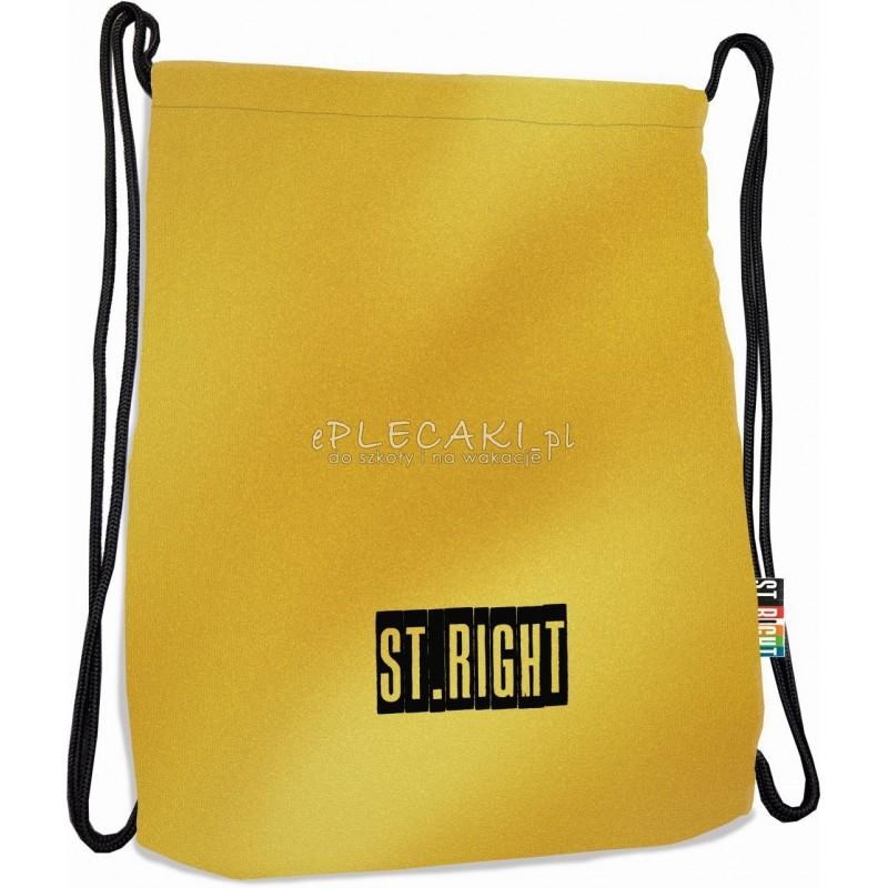 8275f33e32d80 RIGHT Gold złoty  ZŁOTY Worek fullprint   plecak na sznurkach ST.RIGHT Gold  złoty