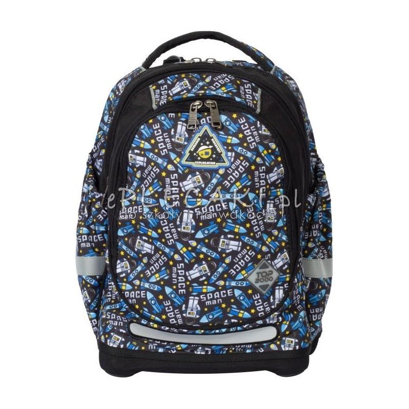 2ed07ea62ec68 Plecak z astronautami niebieski dla chłopaka TOP-2000, super plecak jak  tornister w kosmiczne
