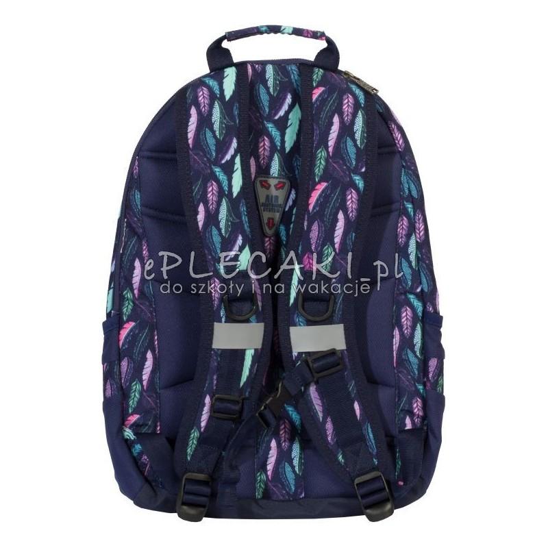 8bcb2361003fc ... Plecak w pióra granatowy, dla dziewczyny top 2000, miętowe pióra, różowe  pióra tył