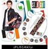 Plecak na kółkach ST.RIGHT BADGES kolorowe odznaki dla chłopca