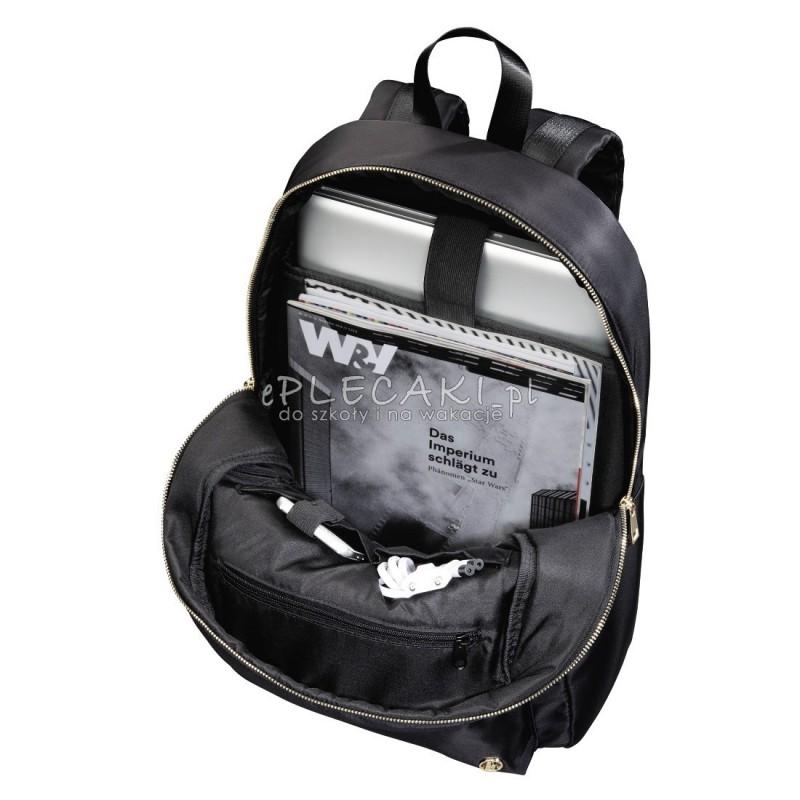 466de51b4bf62 ... Czarny gładki plecak dla dziewczyny i chłopaka glamour, plecak z satyny  ...