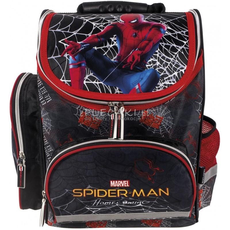 e33f0f0e8c71c Czarny tornister ze Spidermanem Homecoming szkolny dla chłopca