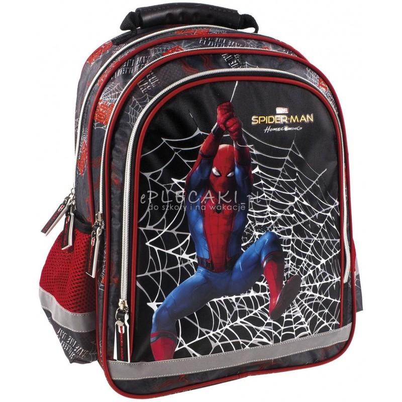 235ec27e582b1 Czarny plecak ze Spidermanem do 1 klasy dla chłopca Homecoming z pajęczyną