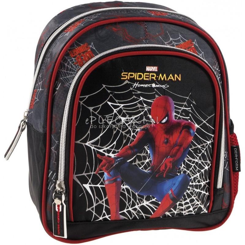 5b030cfc18c82 Czarny plecaczek dla przedszkolaka ze Spidermanem dla chłopca pająk
