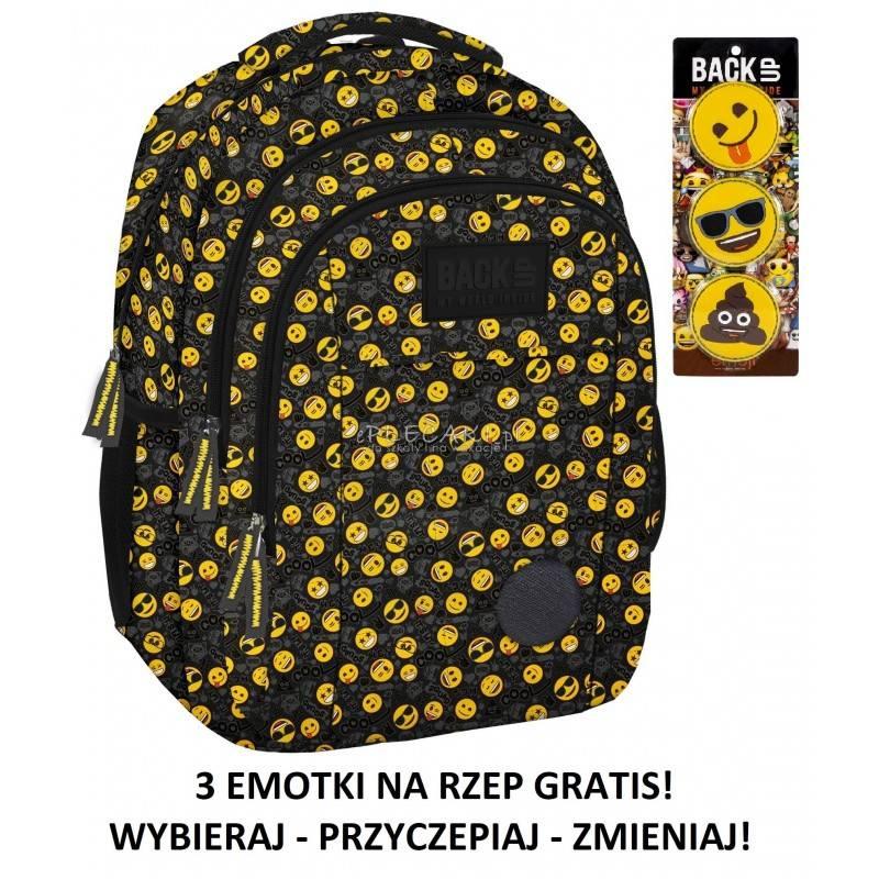 Plecak szkolny BACK UP H30 emotikony dla młodzieży