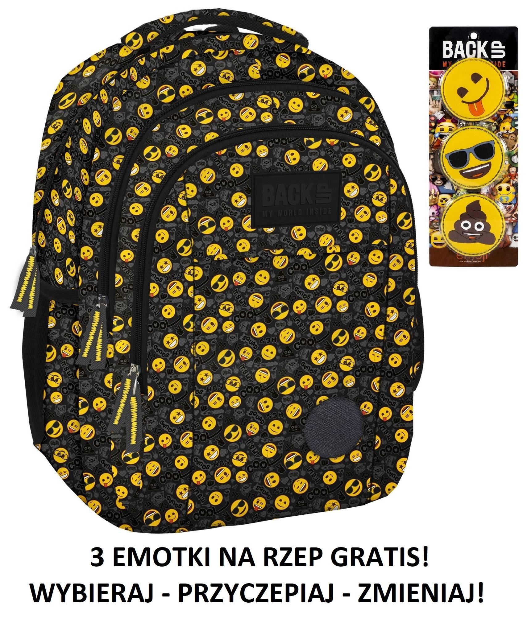 ad0c932966fdce Plecak szkolny BACK UP H30 emotikony dla młodzieży