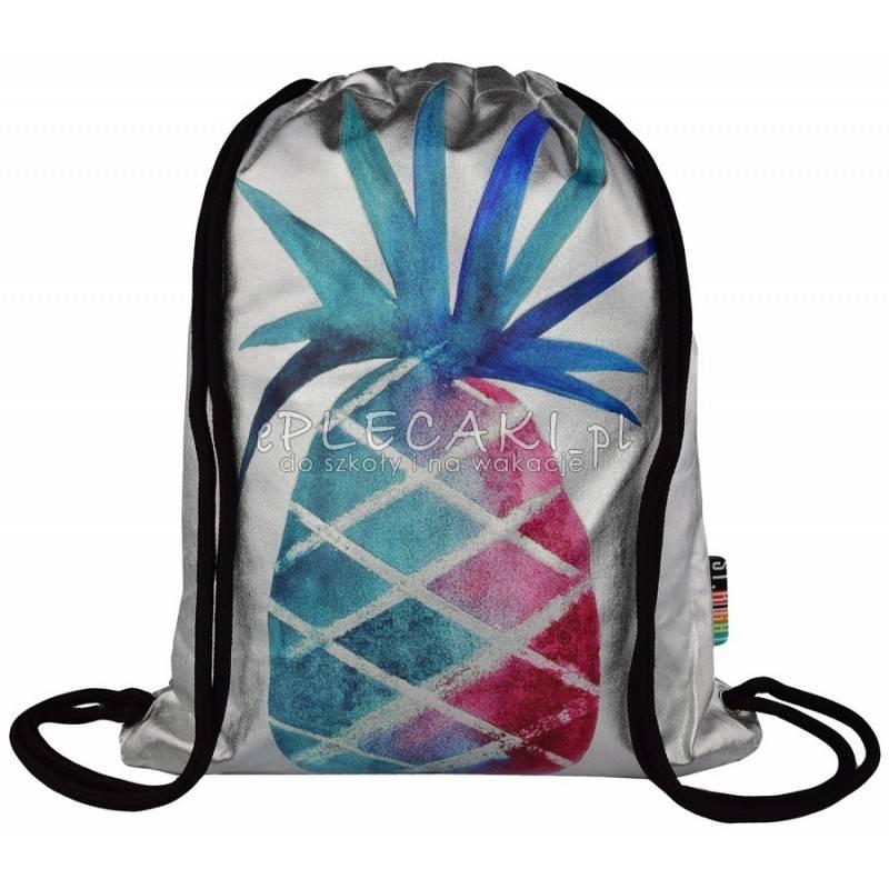 2bd74468cc08a Worek   plecak na sznurkach ST.RIGHT Silver Ananas dla dziewczyny