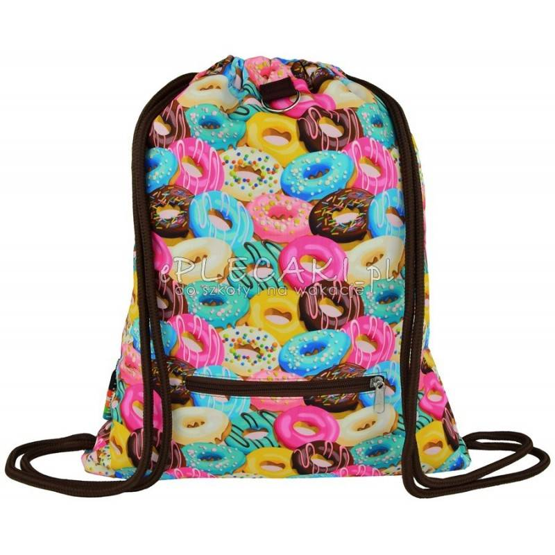 f690f17fcfcf8 Worek fullprint   plecak na sznurkach ST.RIGHT Donuts z pączkami
