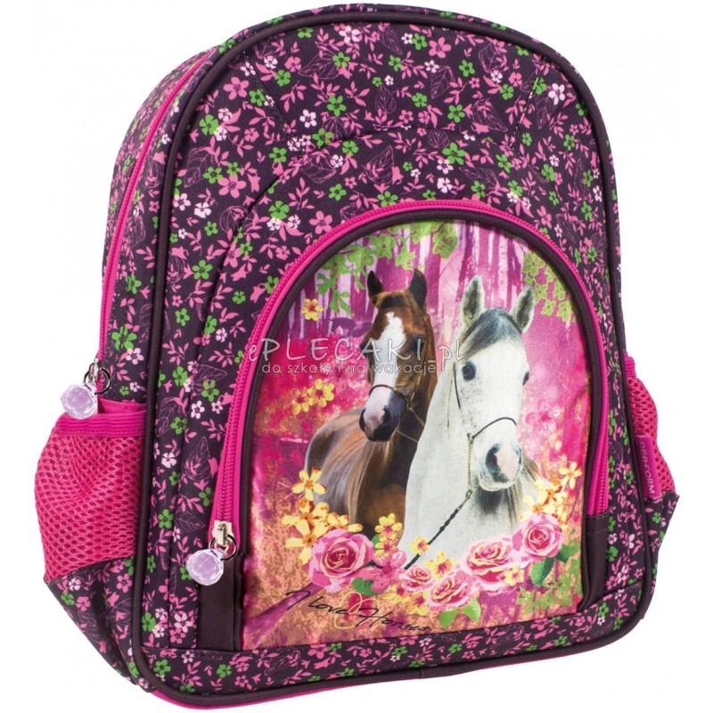 31b7491be50471 Kolorowy plecak dla dziecka z koniem do zerówki i na wycieczkę dla  dziewczynki