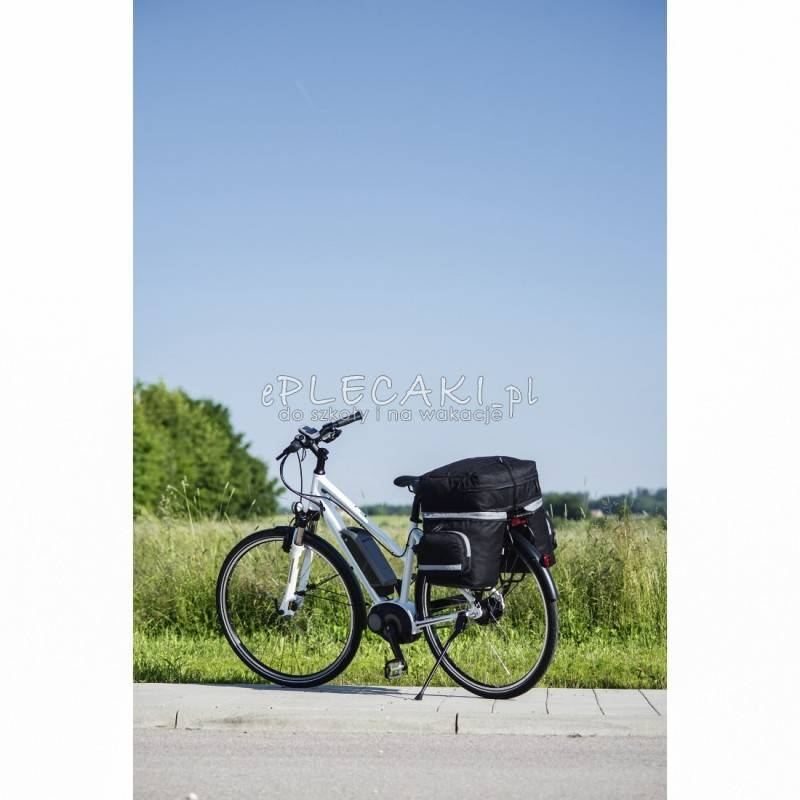 1e8044af4f8d9 Czarno-szara torba na siodło rowerowe marki Hama. Torba rowerowa sakwa