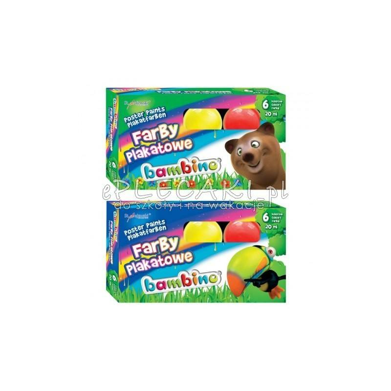 Farby Plakatowe Bambino 6 Kolorow Plakatowki Dla Dzieci Podstawowe