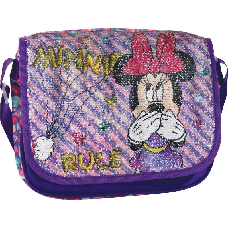 88c6f99d2dbb7 Fioletowa torebka ze zmieniającymi się cekinami z Myszką Minnie cekiny