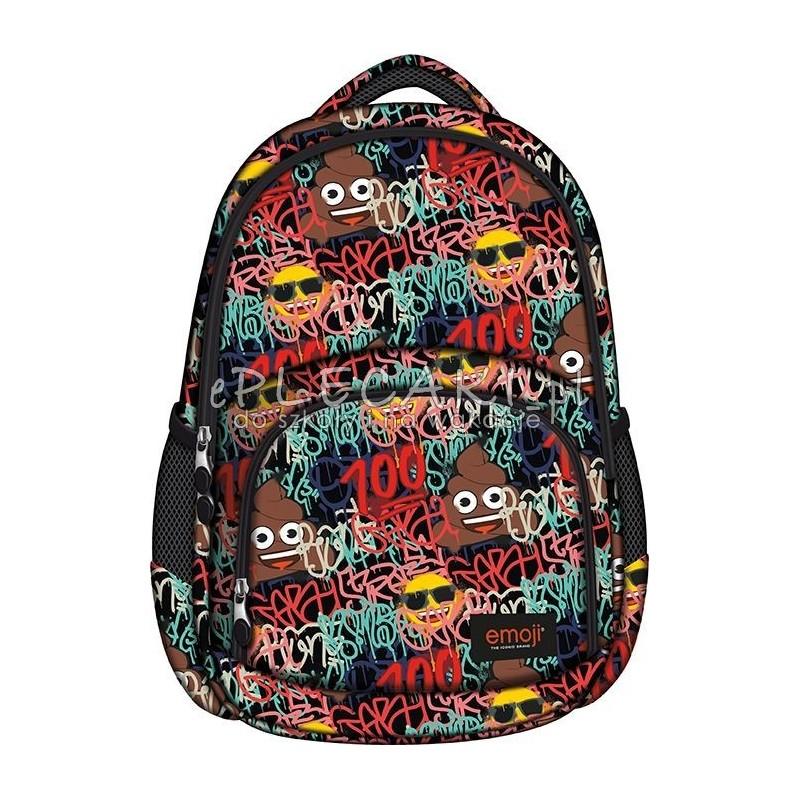 c9fd6b94ae50b Plecak z emotikonami kolorowy dla młodzieży, plecak emotki do 7 klasy