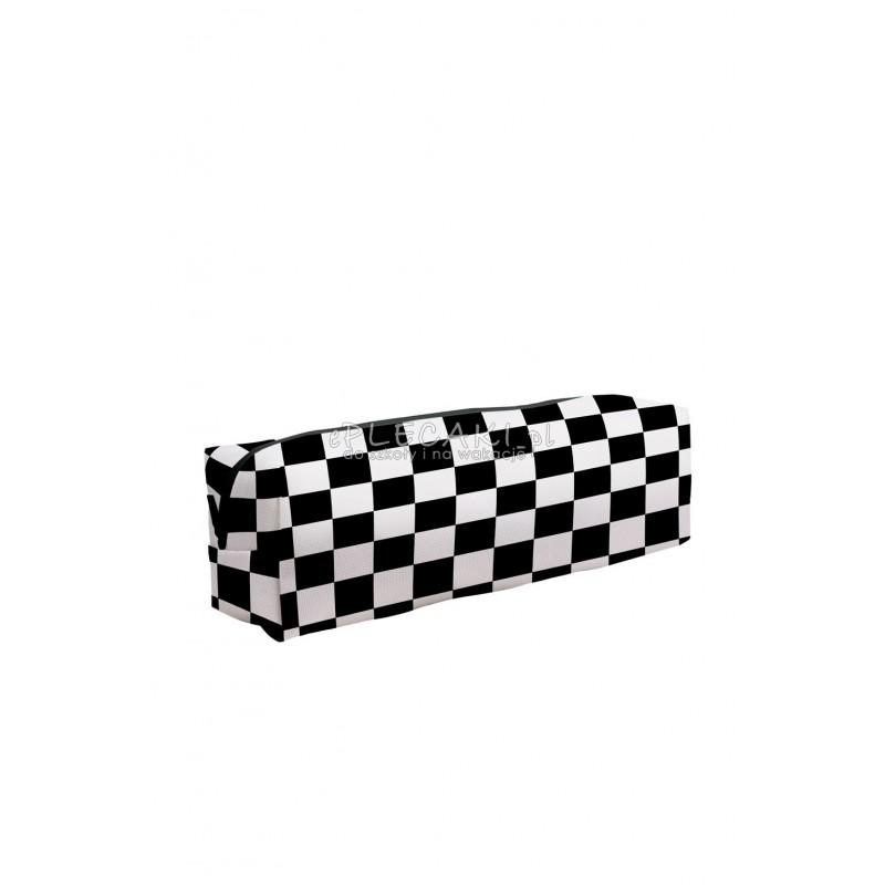Piórnik kwadratowy szachownica kratka Checkered do liceum