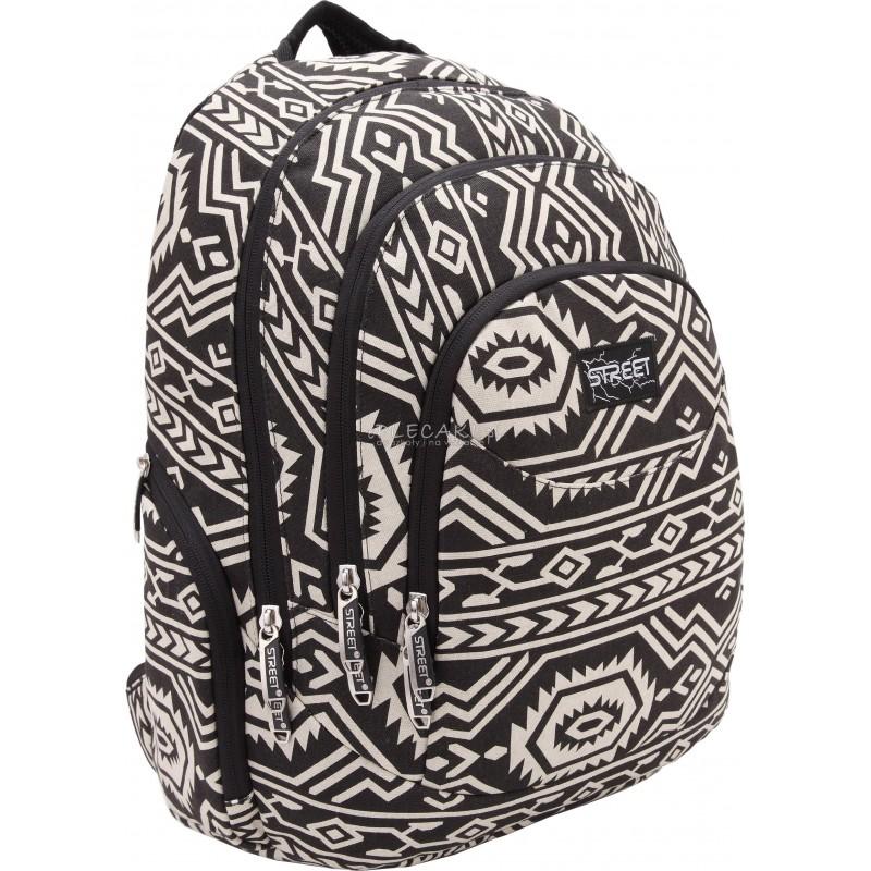 a30662abdce98 Czarno biały plecak aztecki na wycieczki i do szkoły dla młodzieży