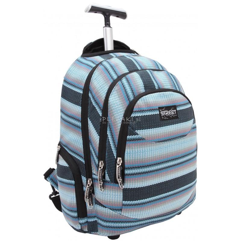 a57975644457c Plecak na kółkach dla dorosłych, plecak na kółkach dla młodzieży, niebieski  plecak na kółkach