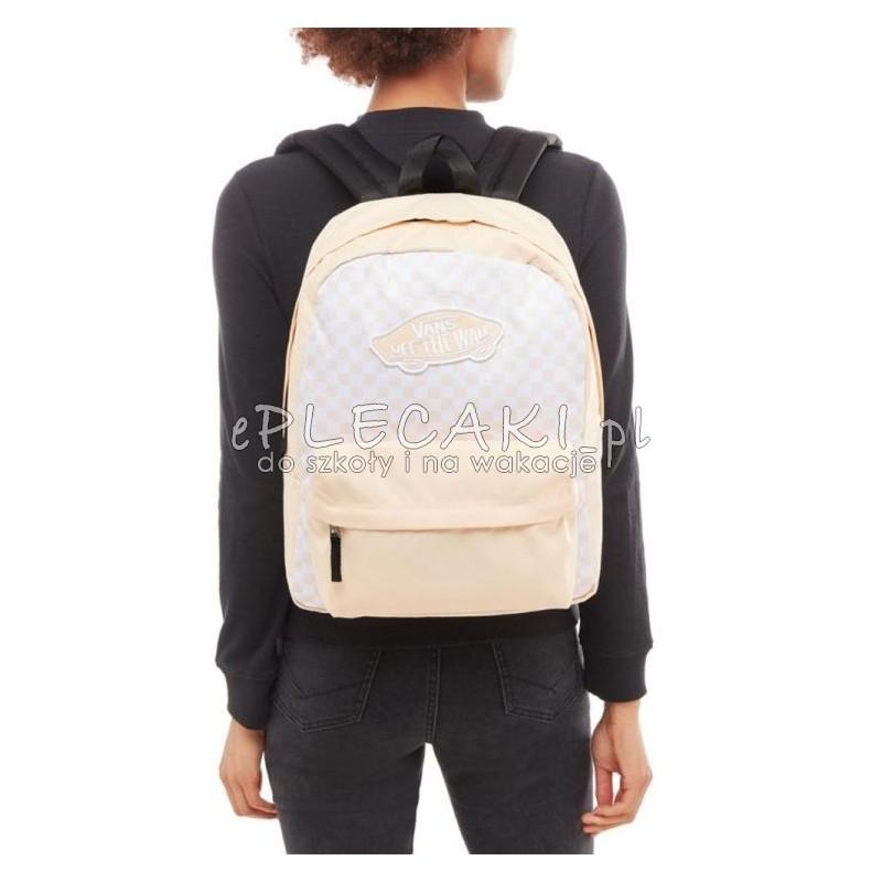Łososiowy, pudrowo różowy plecak miejski Vans dla dziewczyny