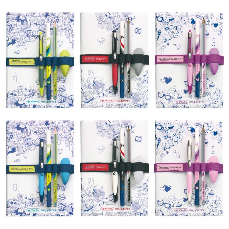 Zestaw Herlitz my.pen + bookband 3 wzory