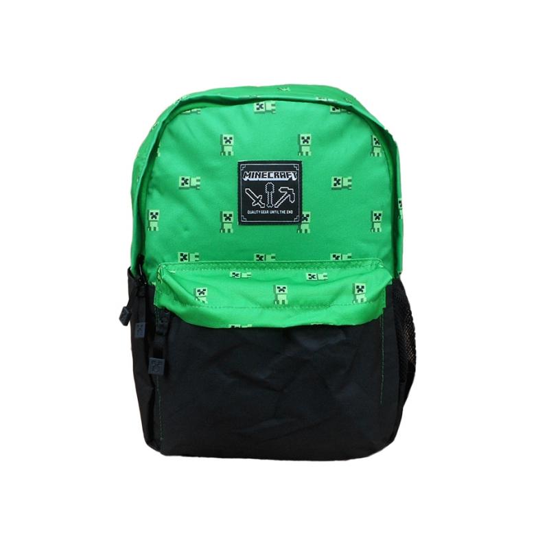 8021e4a003c2a Zielono-czarny plecak miejski Minecraft