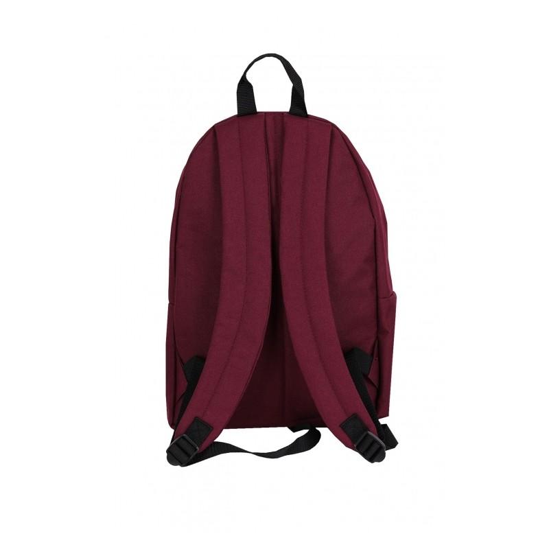 dbdd6a1fee495 Bordowy plecak na laptop z różą naszywaną dla dziewczyn
