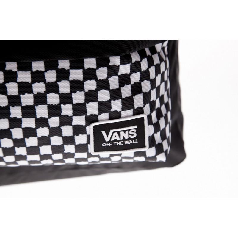 Czarno biały plecak Vans Classic DIY Checkerboard z szachownicą
