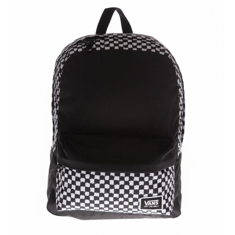 gorące nowe produkty Cena obniżona cała kolekcja Plecak VANS REALM CLASSIC BAC DYI CHECKERBOARD szachownica z czarnym przodem