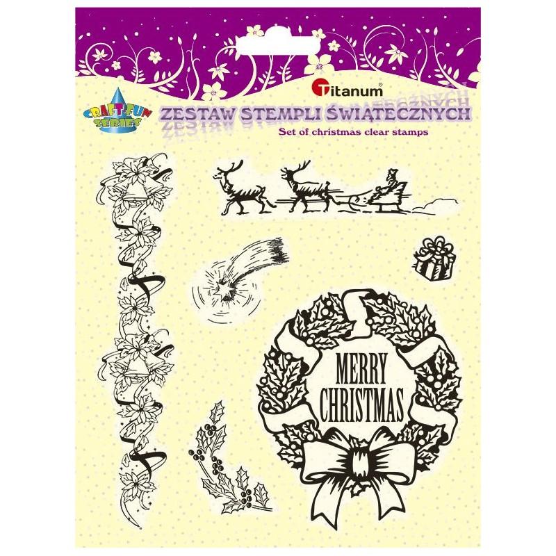 Stemple polimerowe renifery, gwiazda, świąteczne ozdoby
