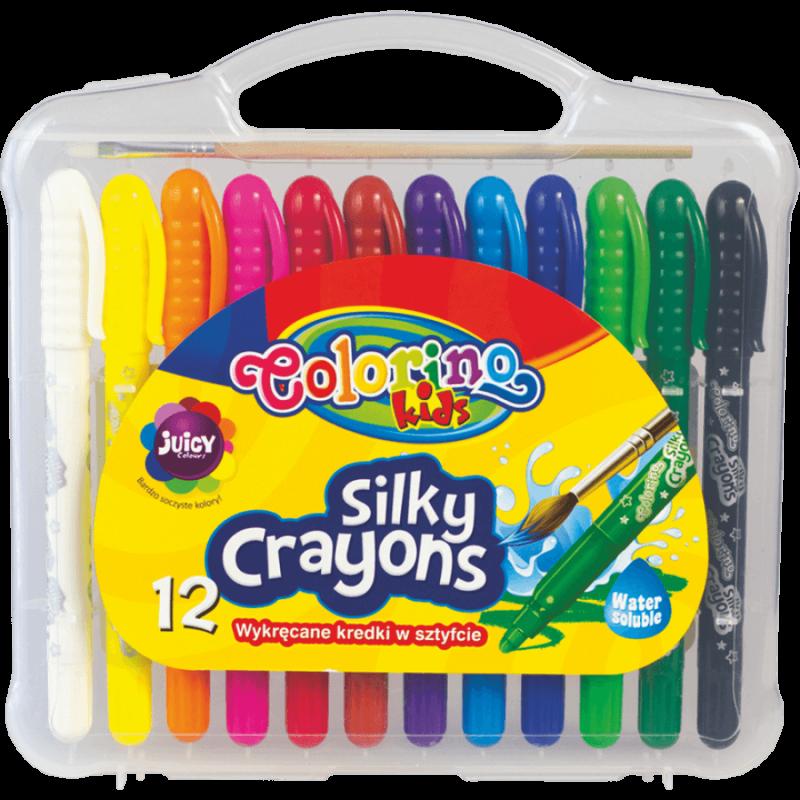 Kredki żelowe wykręcane 3 w 1 Colorino 12 kolorów