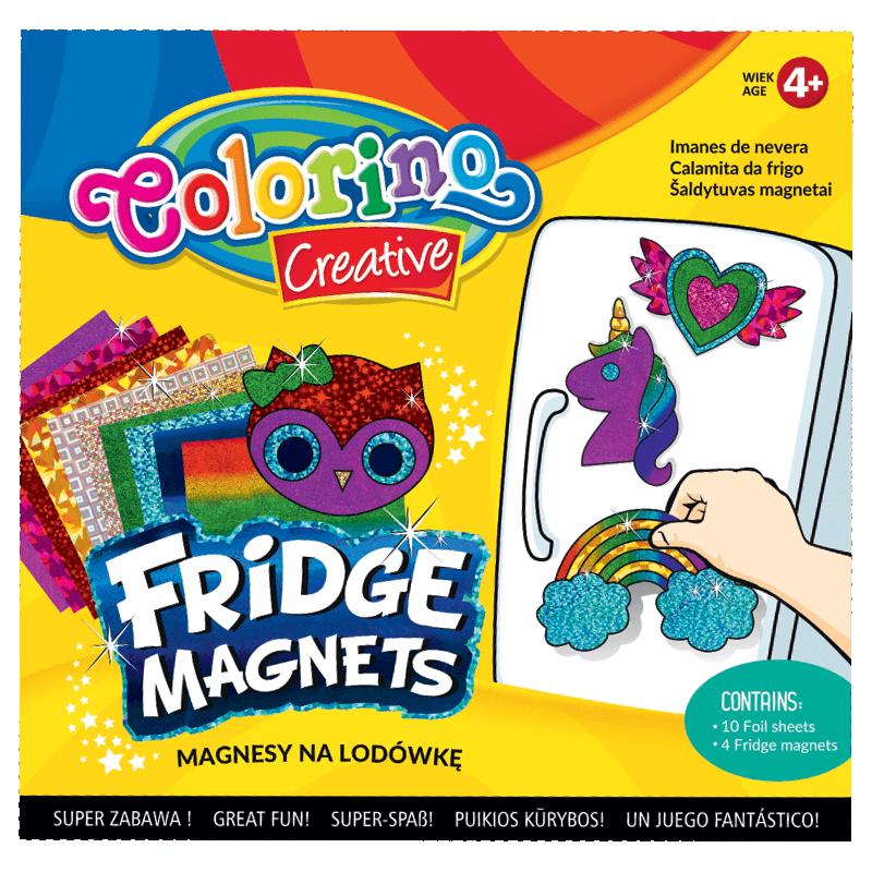 Magnesy na lodówkę Colorino dla dziewczynek - jednorożec tęcza