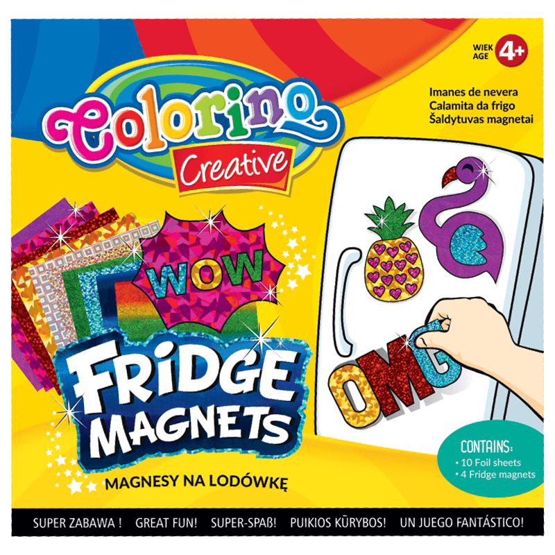 Magnesy na lodówkę Colorino dla dziewczynek - flaming ananas