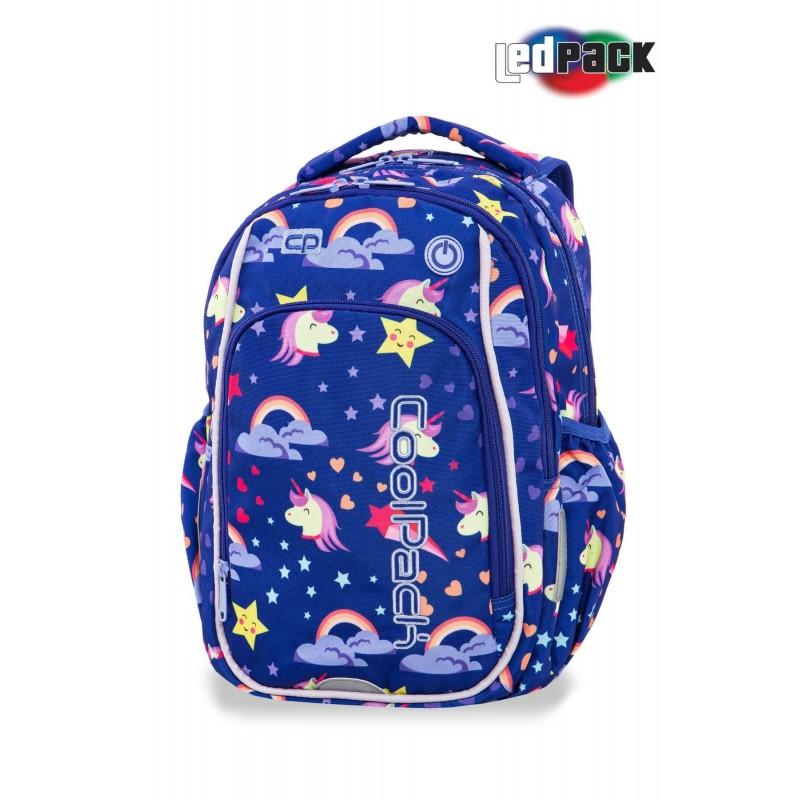 Świecący plecak z jednorożcem Unicorn do 1 klasy CoolPack Strike S dla dziewczynki