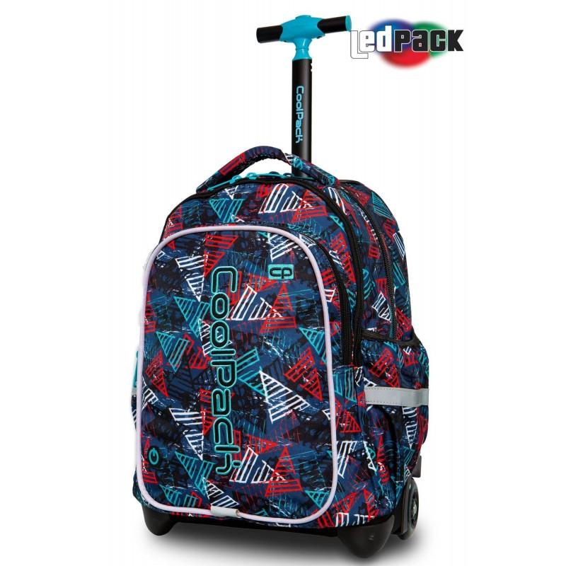 b59e10c4dfc23 Świecący plecak na kółkach w kolorowe trójkąty CoolPack Junior Triangles  DLA CHŁOPAKA