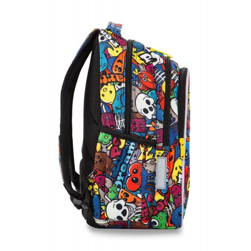 d499f9ec46244 ... Świecący plecak z kreskówką szkolny 3 komory CoolPack Joy M Cartoon bok  ...
