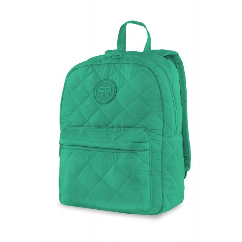 3964a36880eded Pikowany plecak puchowy zielony dla dziewczyny CoolPack Ruby Green