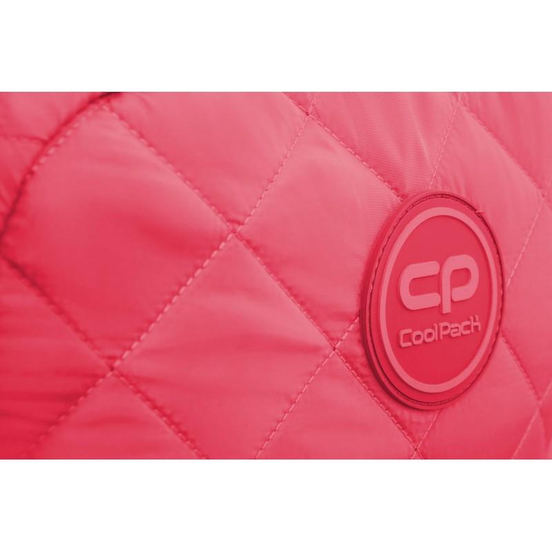 24a0aa1d620b03 ... Różowy plecak pikowany puchowy dla dziewczyny CoolPack Ruby Coral Touch  ...