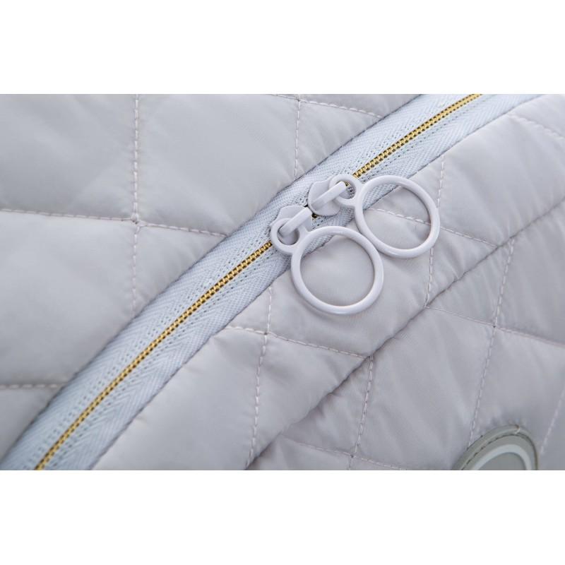 d39e3d0d01aa8e ... Szary plecak pikowany puchowy dla dziewczyny CoolPack Ruby Grey Mist  zamek ...