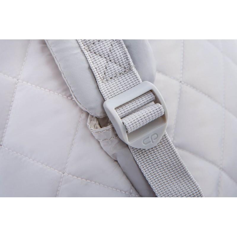 8c6902bce5fdc7 ... Szary plecak pikowany puchowy dla dziewczyny CoolPack Ruby Grey Mist  szelki