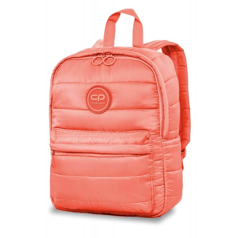 da95dd2eea6642 Mały plecak dla dziewczyny pikowany puchowy CoolPack CP ABBY PEACH MELLOW  brzoskwiniowy