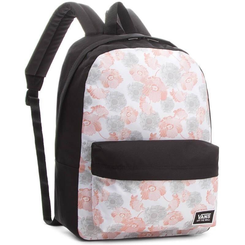 a8cd426221199 Plecak Vans w kwiaty maki Classic Bac miejski dla dziewczyny