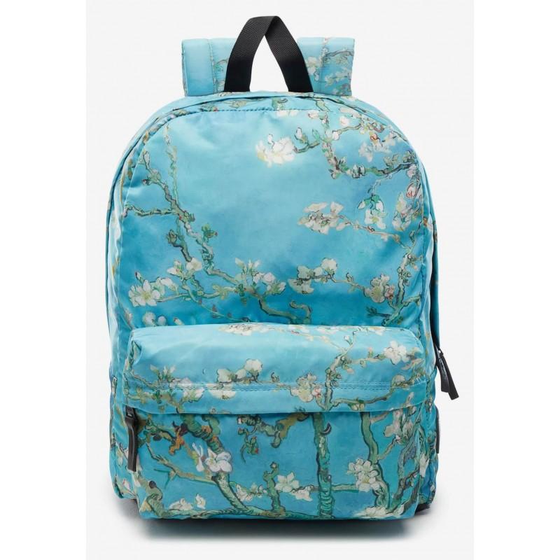 79b9aeacb66a5 Plecak damski Vans Van Gogh Almond Blossom błękitny z drzewem migdałowca