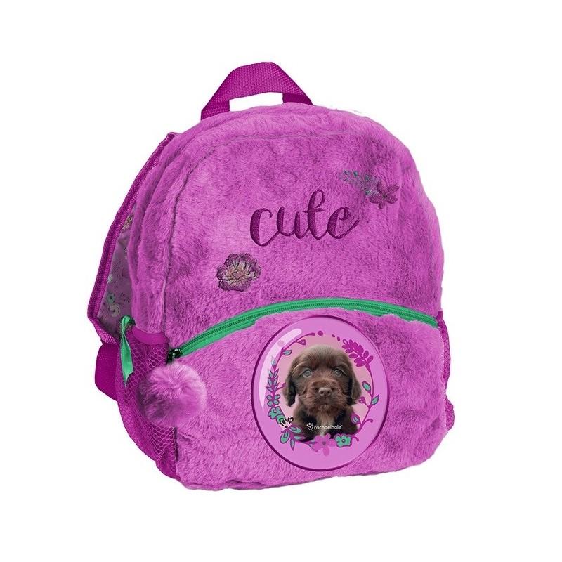 Plecaczek pluszowy dla dziecka Rachael Hale z psem fioletowy