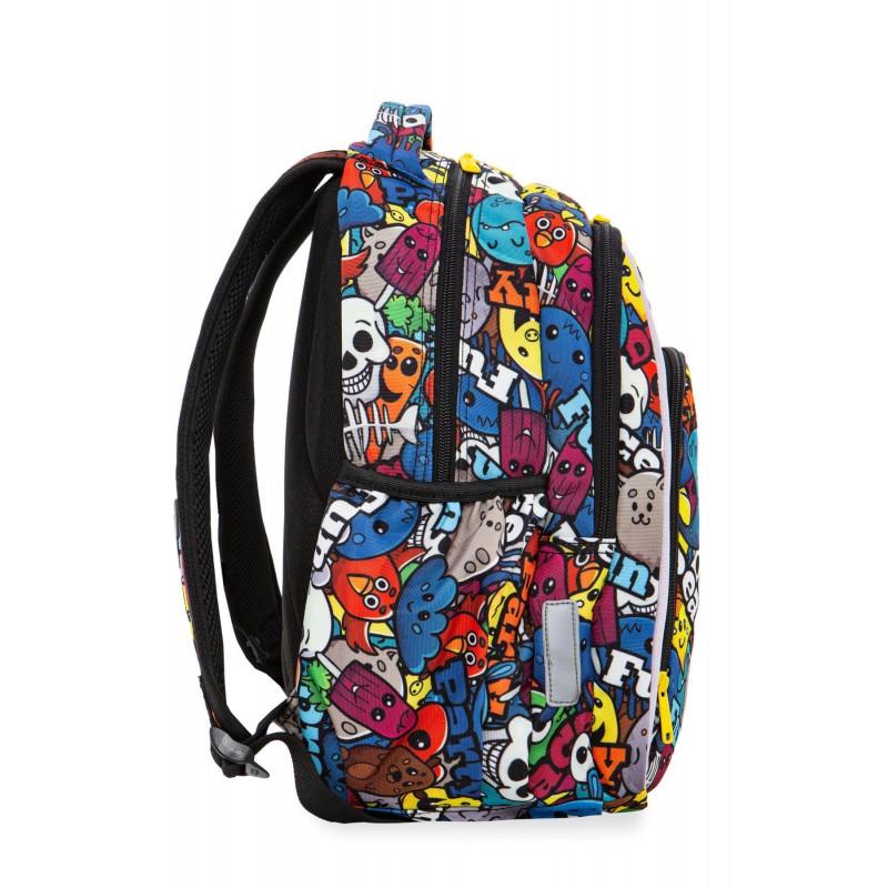 654c22d7881ee ... Świecący plecak z kreskówką do 1 klasy CoolPack Strike S dla dziecka  bok ...