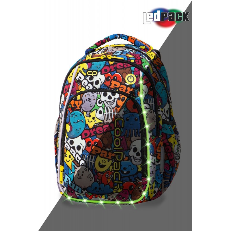 75ee16636406e Świecący plecak z kreskówką do 1 klasy CoolPack Strike S dla dziecka