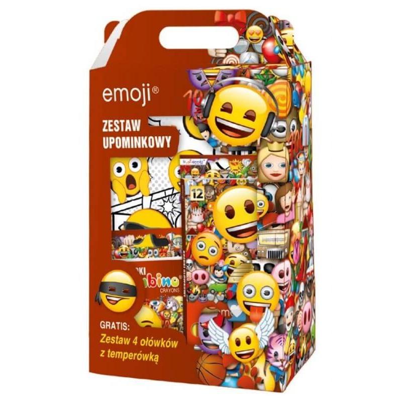 Zestaw upominkowy Emoji emotikony - przybory szkolne i plastyczne
