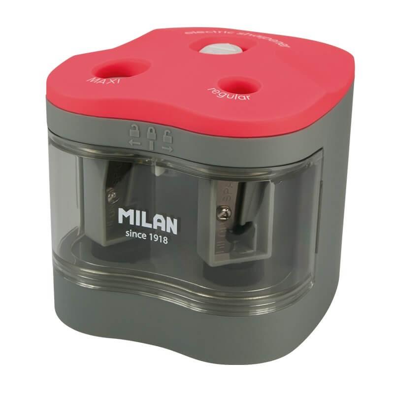 Temperówka Milan elektryczna podwójna z pojemnikiem