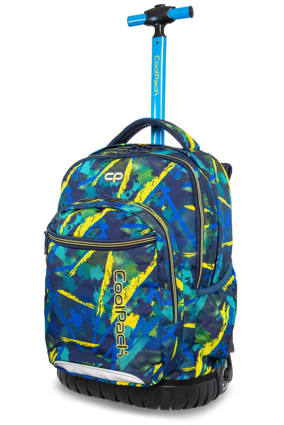 006f6180800cf Kolorowy plecak na kółkach w plamki CoolPack Abstract Yellow Swift