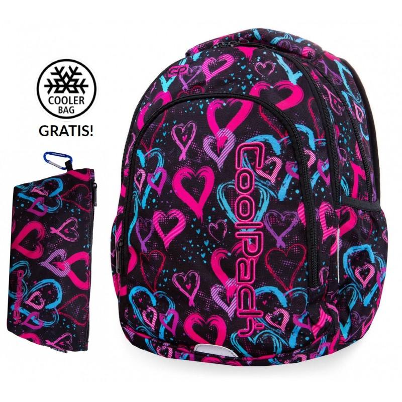 5e06338d24f59 Plecak do klas 1-3 CoolPack CP PRIME DRAWING HEARTS kolorowe serca + GRATIS