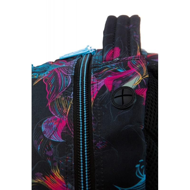 38bbe10add1e2 Plecak młodzieżowy CoolPack CP SPINER VIBRANT BLOOM w kwiaty iluzja; Czarny  plecak szkolny w kwiaty z wygodnym uchwytem CoolPack Vibrant Bloom Spiner  ...