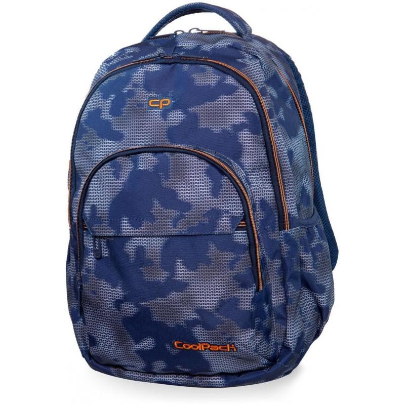 12fb259106a3c Plecak młodzieżowy CoolPack CP BASIC PLUS MISTY TANGERINE niebieska mgła